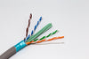 close up cat6a cmr rated 10g shielded FTP bulk cable