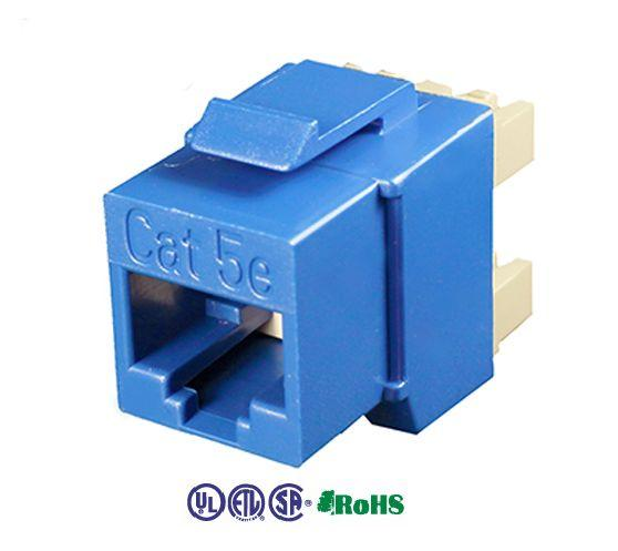 cat5e keystone jacks unshielded punch down 180 degree