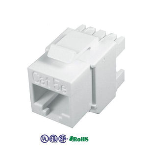 cat5e keystone jacks unshielded punch down 180 degree white color
