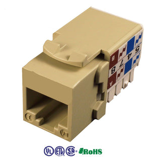 cat5e keystone jack 90 degrees ivory color KJ-E8-C5EAB-IV