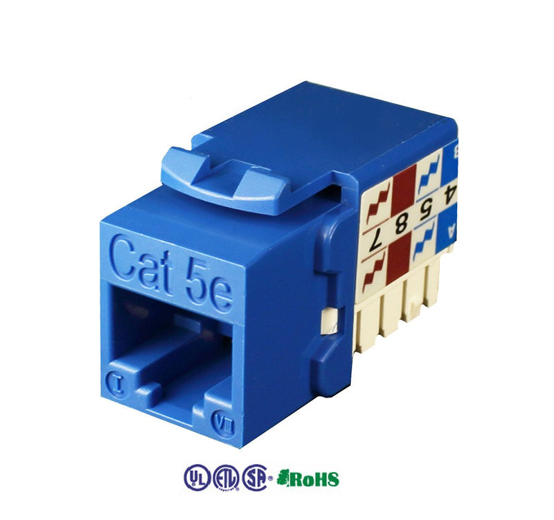 cat5e keystone jack 8p8c 90 degree red kj-e8-c5eab-re
