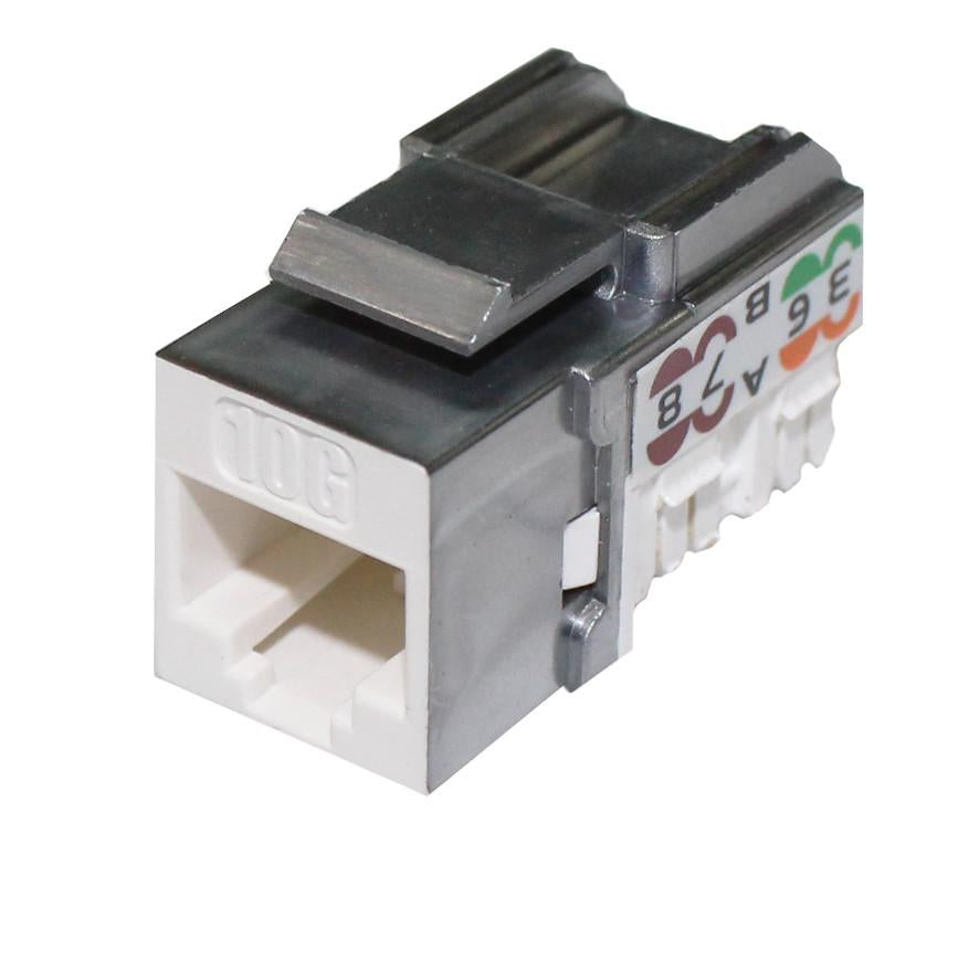 cat6a 10g keystone jack unshielded jack 90 degrees
