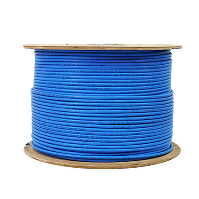 CAT6A Plenum (CMP) 1000FT, Unshielded Twisted Pairs (UTP) 10G, 23AWG Solid Copper Cable