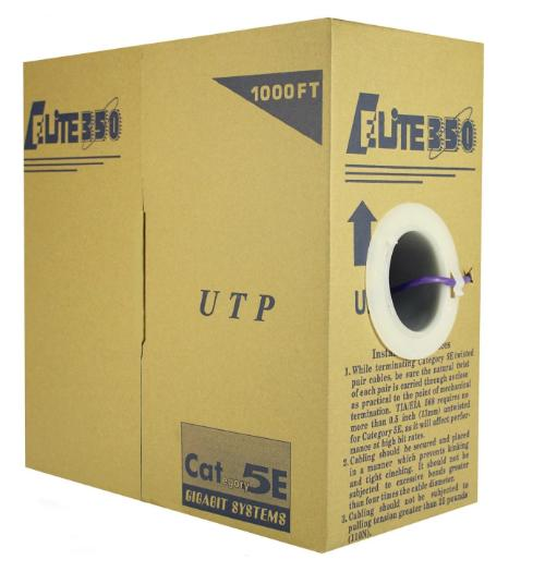 CAT5e Riser (CMR) 1000FT 24AWG UTP black