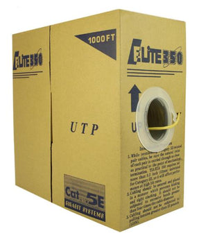 CAT5e Riser (CMR) 1000FT 24AWG UTP yellow