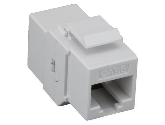 cat6 utp inline keystone coupler white