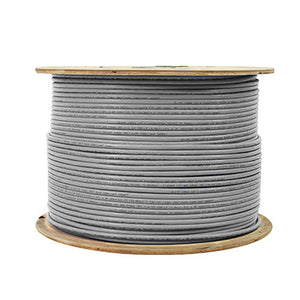 CAT6 Shielded Plenum (CMP) 1000FT, 23AWG F/UTP Solid Copper Cable