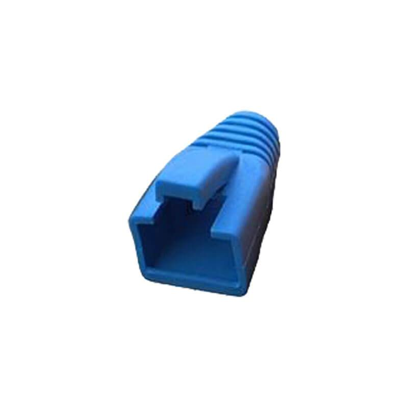 cat7a and 6a large OD snagless boot fit on rj45 in blue