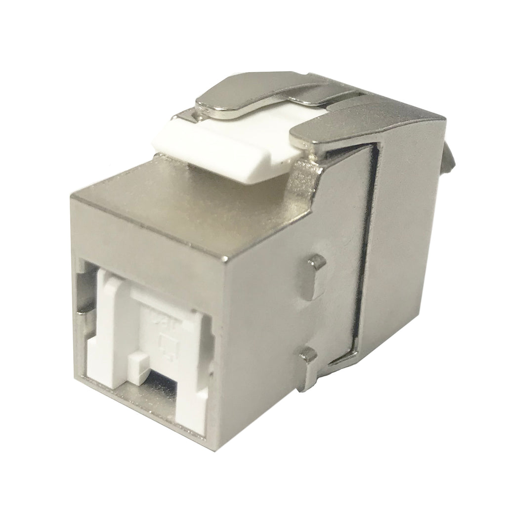 CAT8 Keystone Jack, Shielded, High Density with Autocover