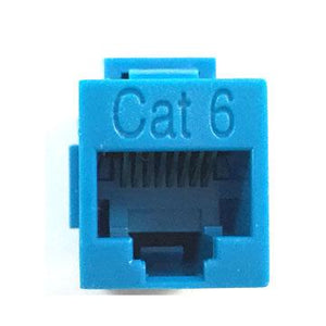 cat inline coupler close up blue color