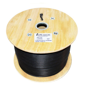 RG59/U 20AWG Solid BCC, 80% CCA Braiding Control Coaxial Cable - 1000 ft.