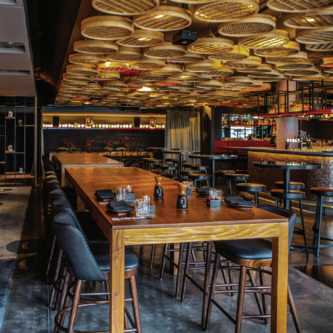 Inside Hot sauce restaurant venue in QT hotel Wellington