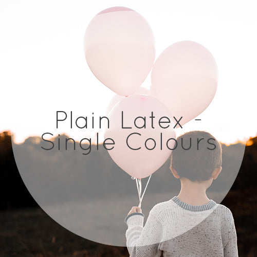 Plain Latex Balloons - Single Colours