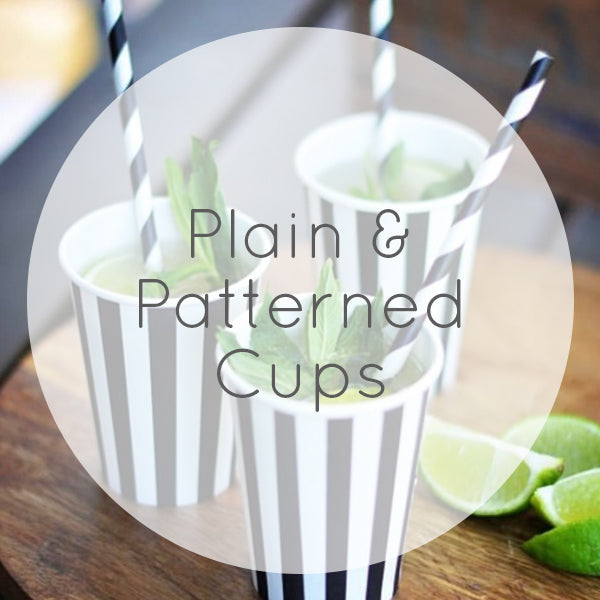 Plain & Patterned Cups