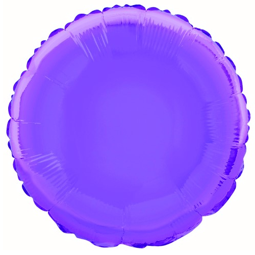 Purple Round Foil Balloon