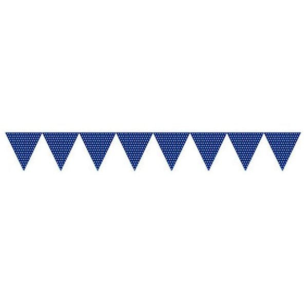 Bunting Flags - Blue with Spots