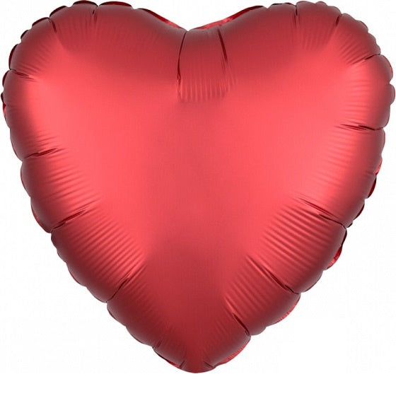 Satin Luxe Sangria Heart Foil Balloon