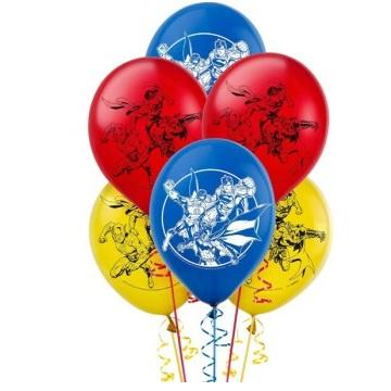 Justice League Balloons - Pack of 6