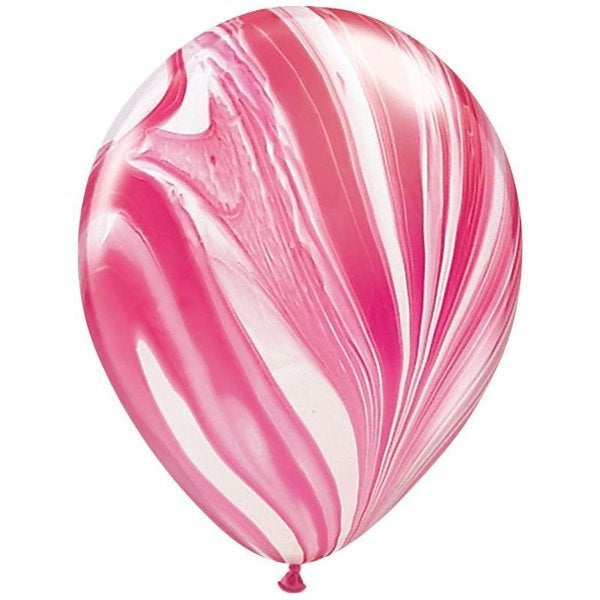 Red & White Marble Balloon