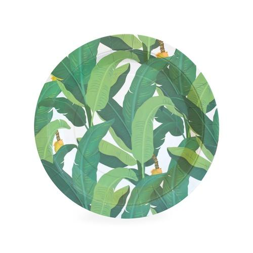 Paper Eskimo Tropical Leaf Plates - Lunch