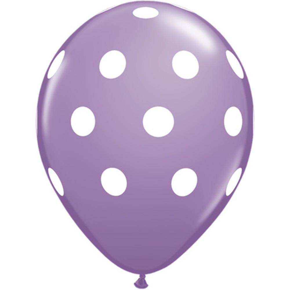 Purple Polka Dot Balloon