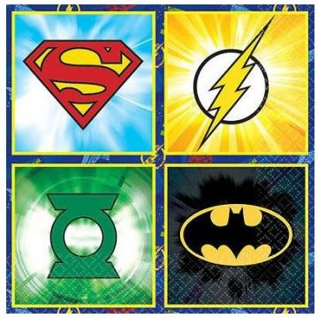 Justice League Napkins - Beverage