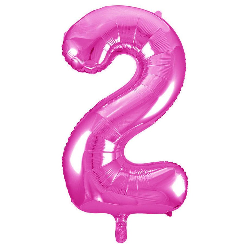 Giant Hot Pink Number Foil Balloon - 2