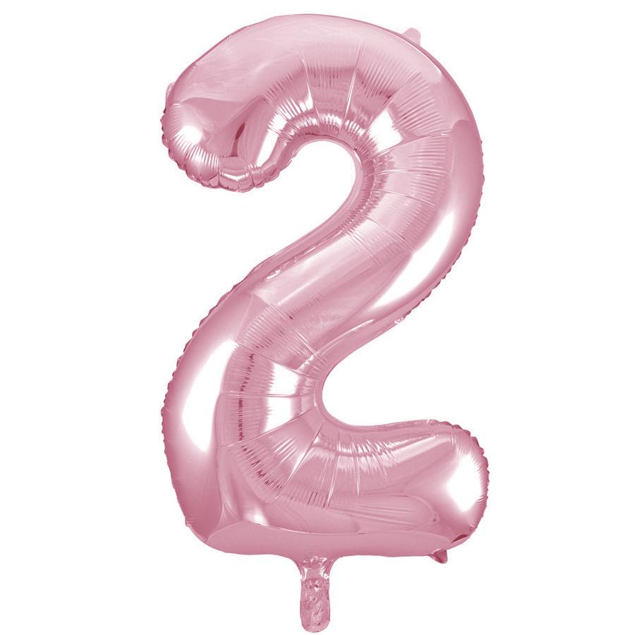 Giant Lovely Pink Number Foil Balloon - 2