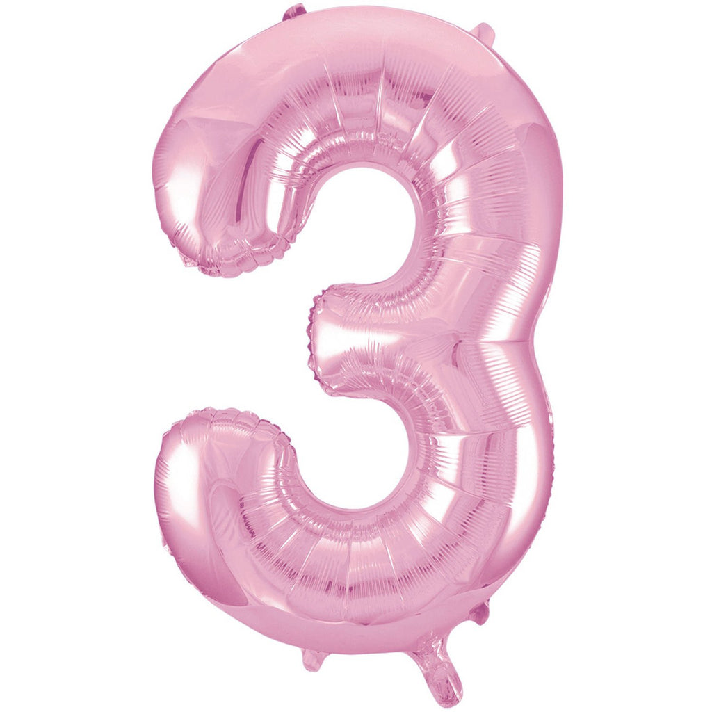 Giant Lovely Pink Number Foil Balloon - 3