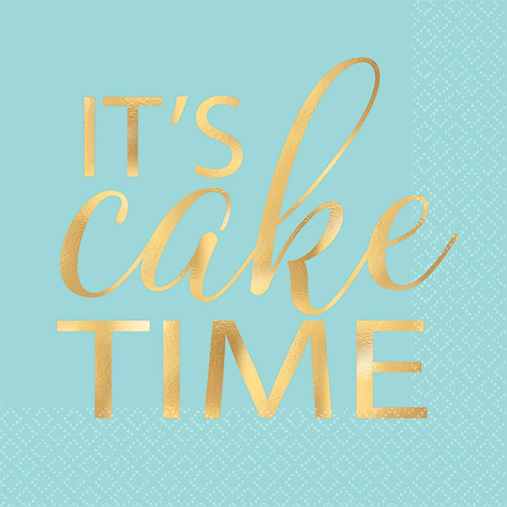 It's Cake Time Napkins - Beverage
