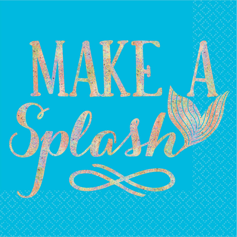Mermaid Wishes Make a Splash Napkins - Beverage