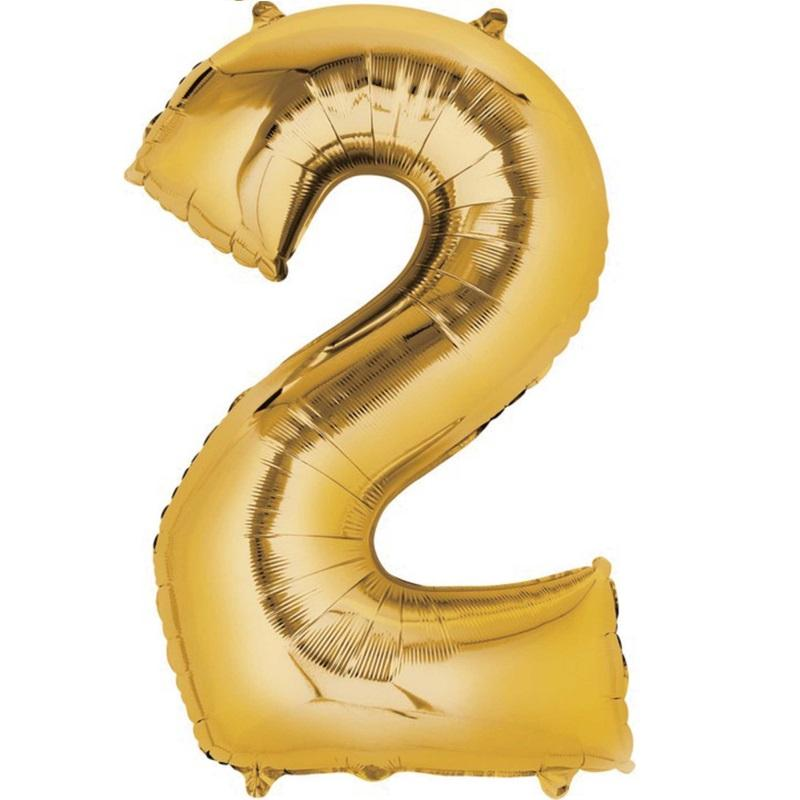 Anagram Gold Jumbo Number Foil Balloon - 2