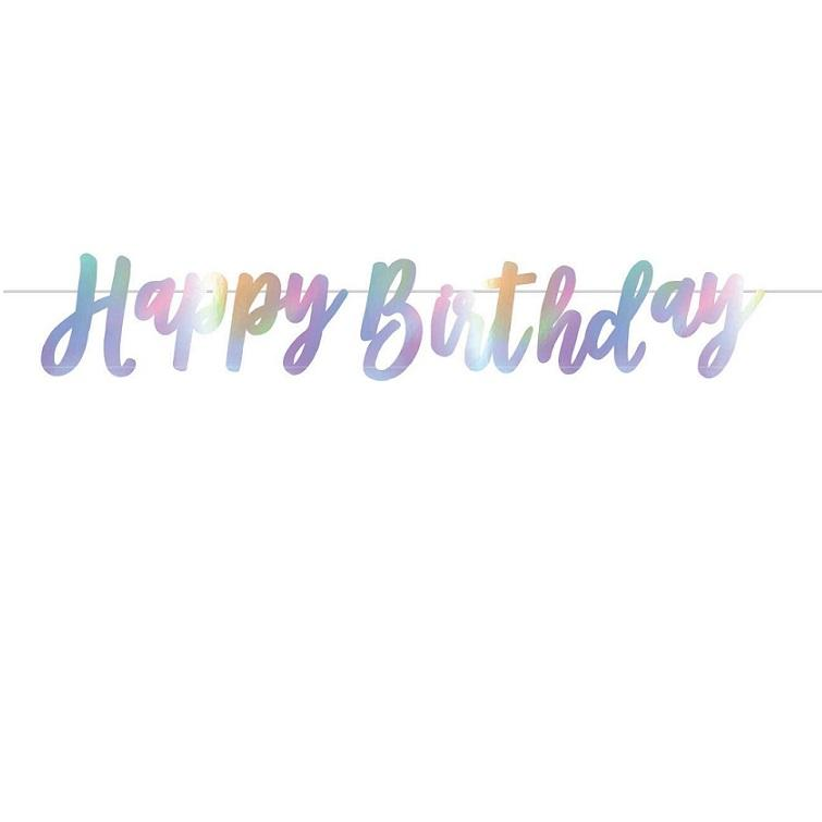 Iridescent Ribbon Happy Birthday Bunting
