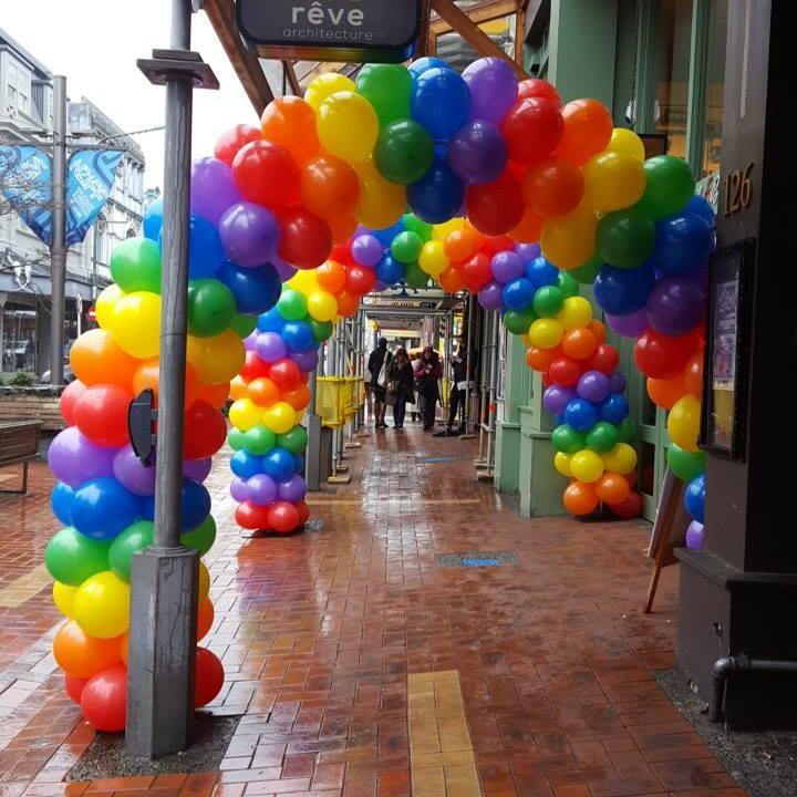 Colour Block Balloon Arch