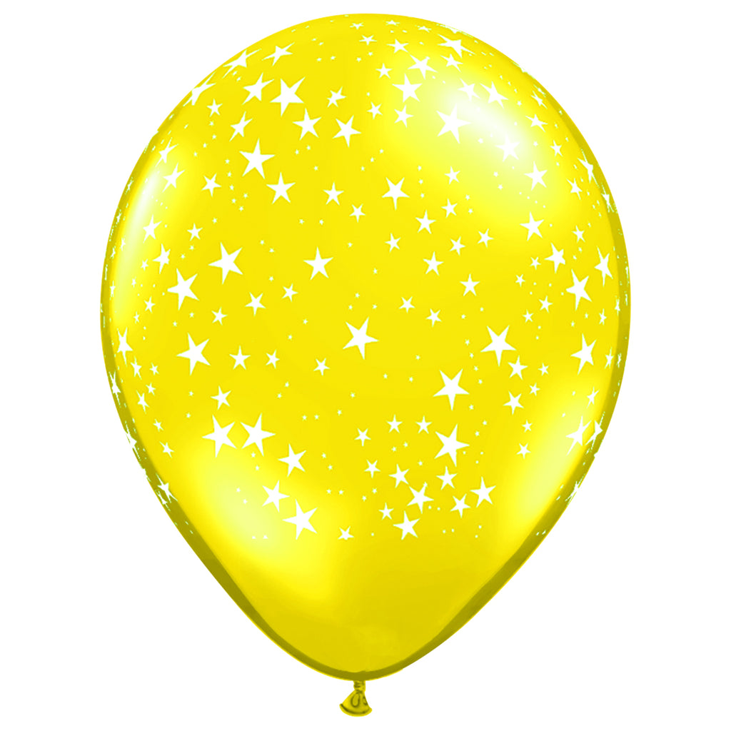 Yellow Star Balloon
