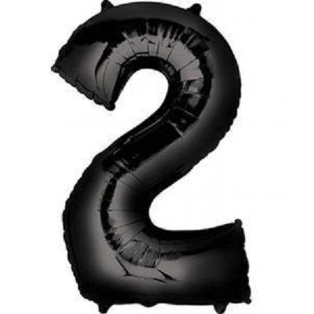 Anagram Black Jumbo Number Foil Balloon - 2