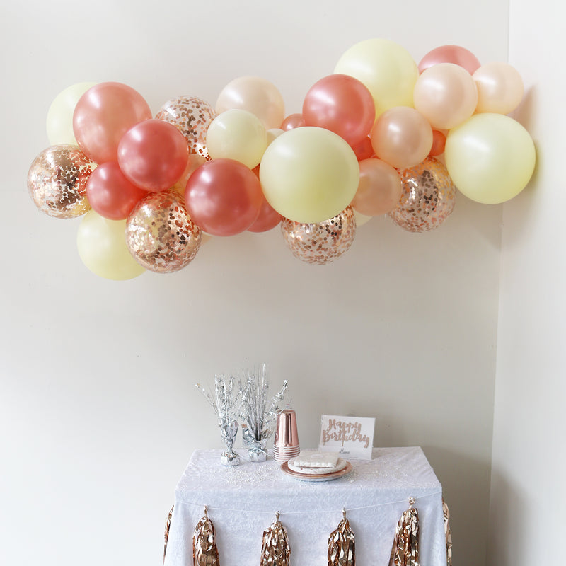 Rose Gold Blush Balloon Garland
