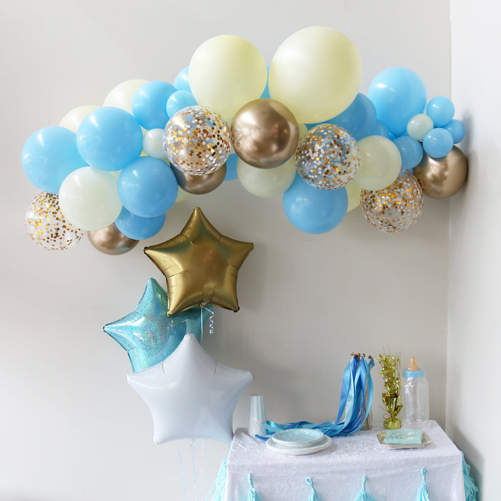 Baby Blue Balloon Garland
