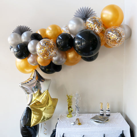 Black Orbz Foil Balloon