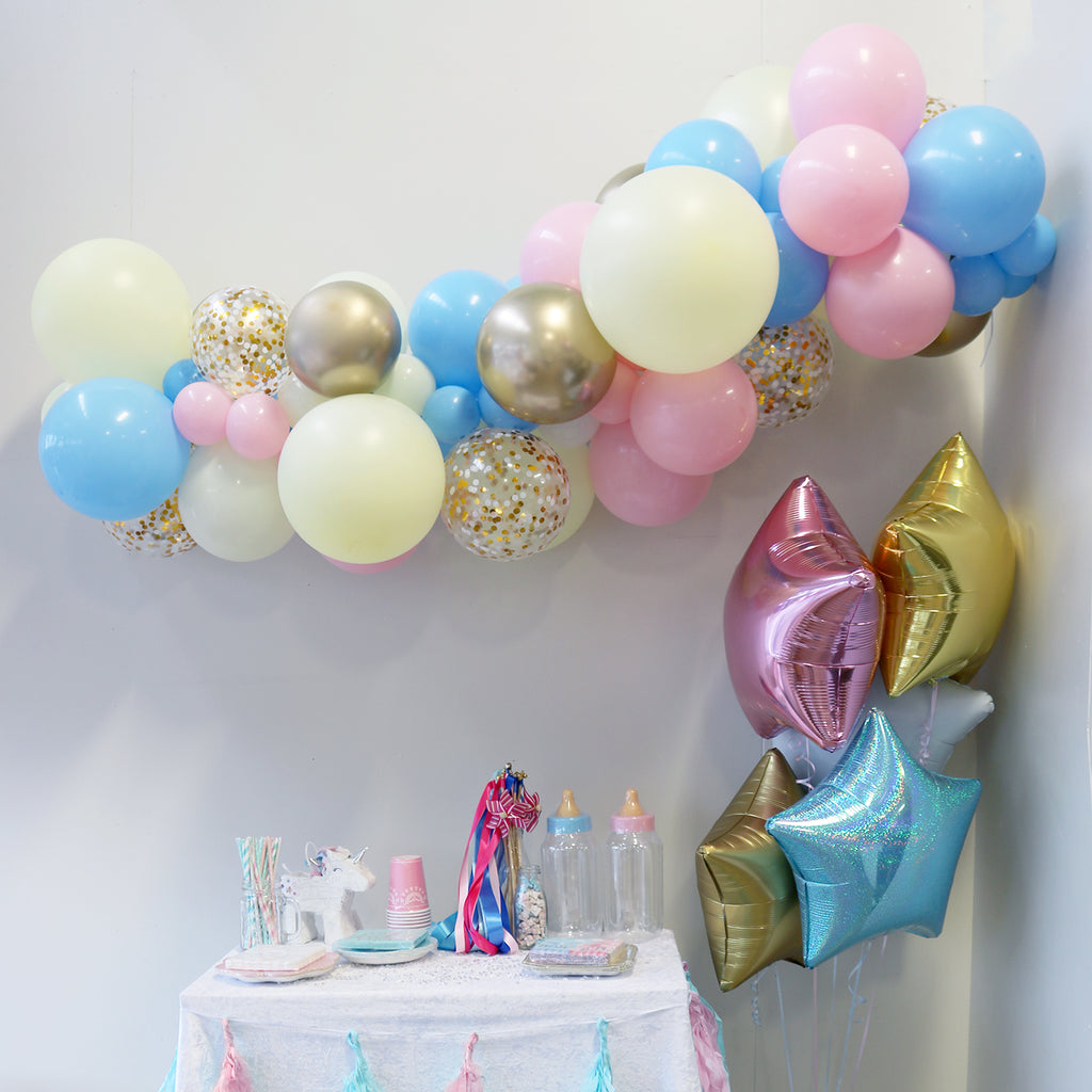 Gender Reveal Balloon Garland Pop Balloons