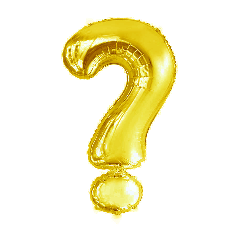 Giant Gold Question Mark Foil Balloon