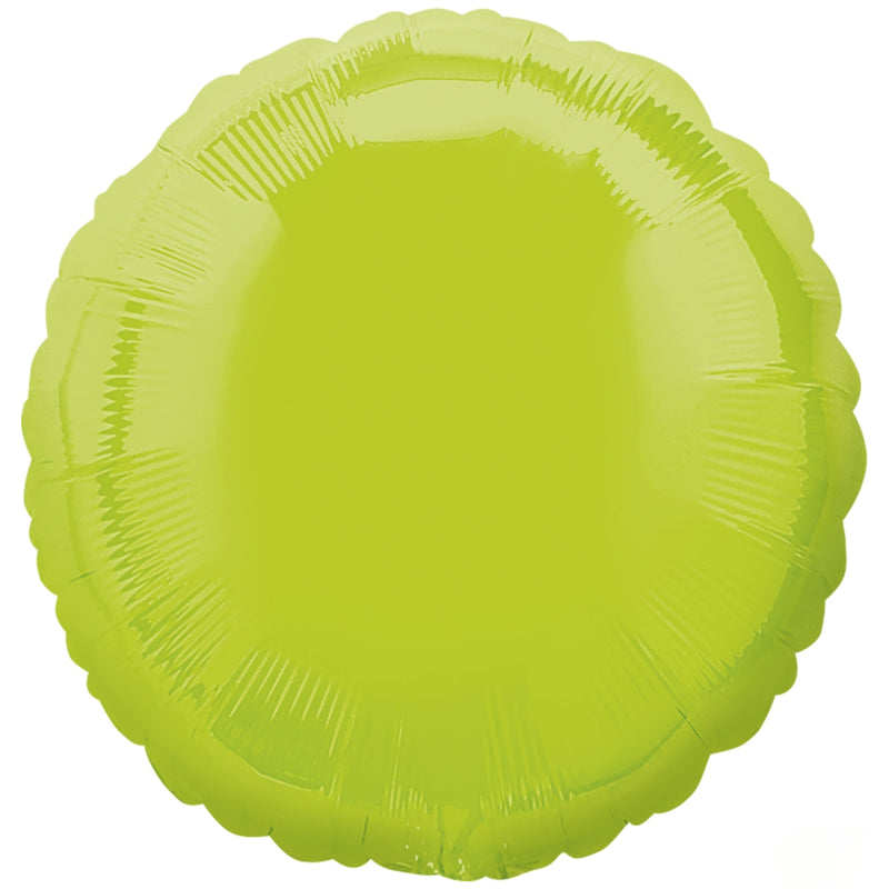 Kiwi Green Round Foil Balloon