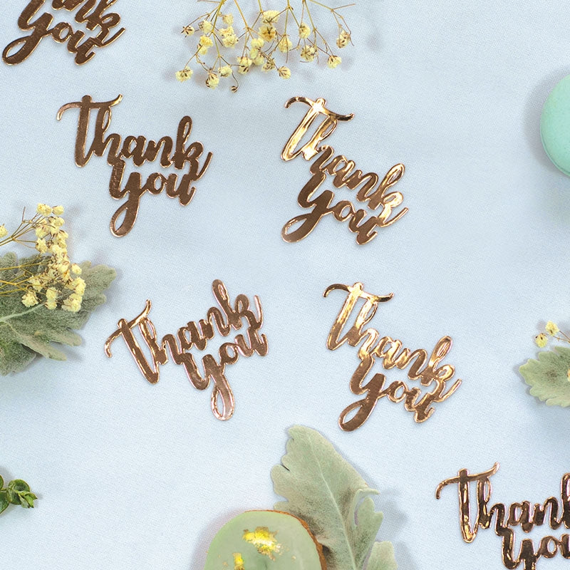 Rose Gold Jumbo Confetti - Thank You