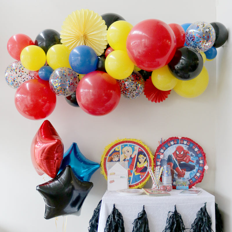 Super Hero Balloon Garland