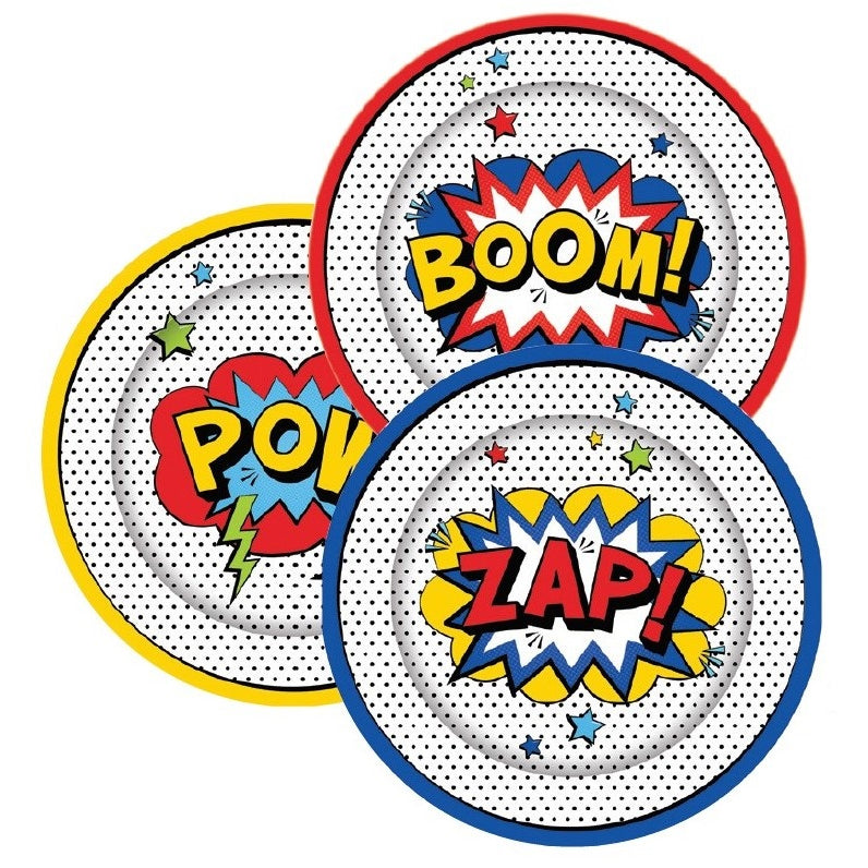Super Hero Plates - Lunch
