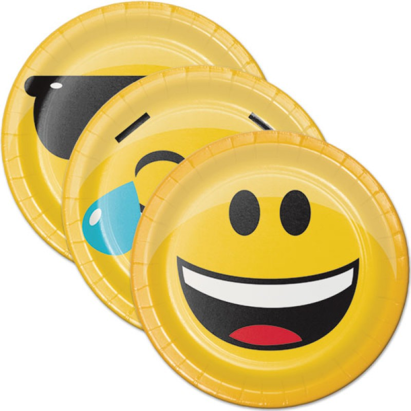 Emoji Face Plates - Lunch