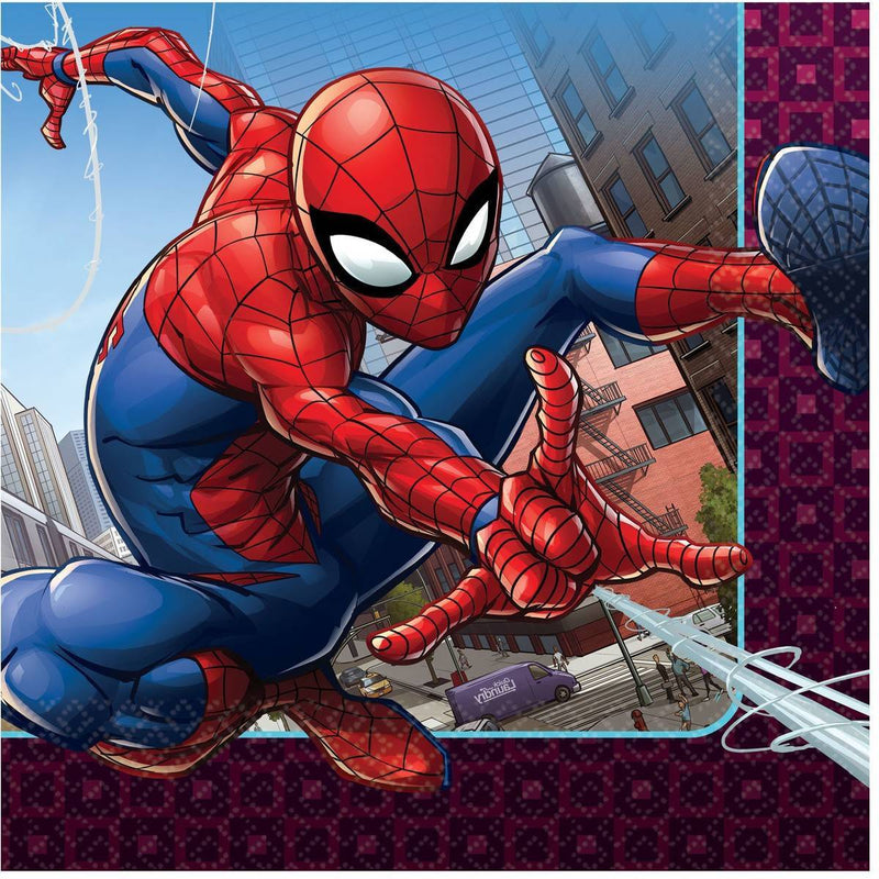 Spiderman Webbed Napkins - Lunch