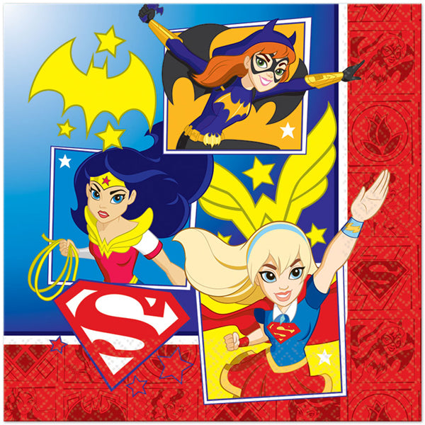 Super Hero Girls Napkins - Lunch