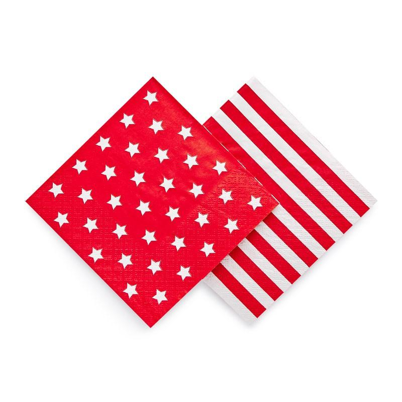 Paper Eskimo Red Star Napkins - Beverage