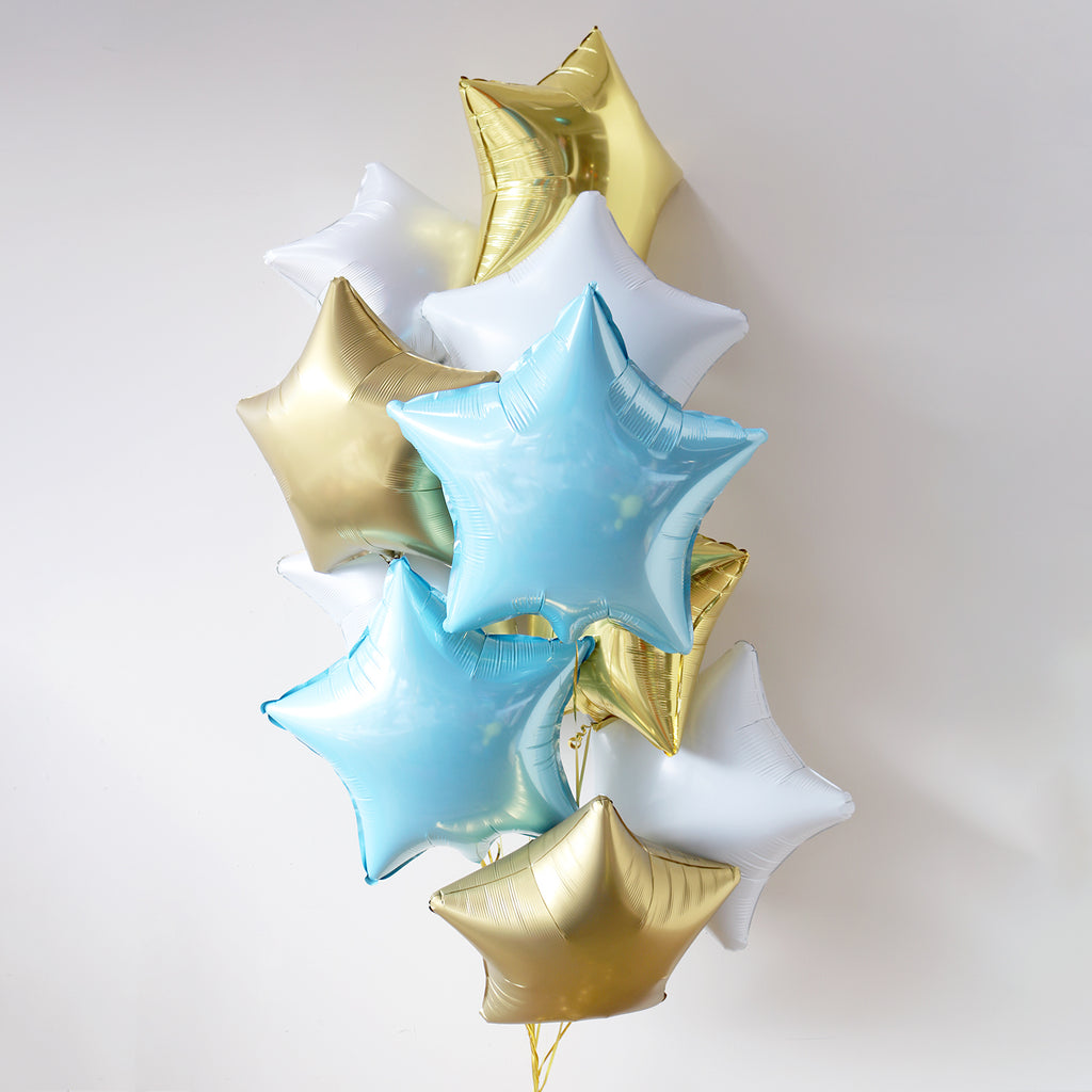 Baby Blue Star Foil Bouquet